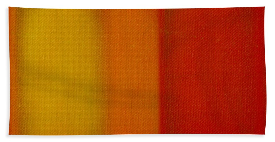Rothko Hand Towel featuring the painting Cadmium Lemon by Charles Stuart