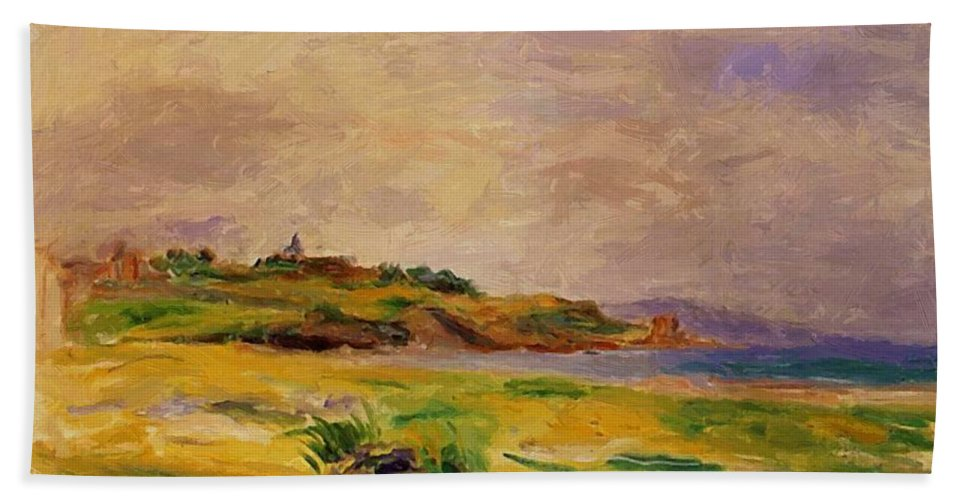 Cagnes Hand Towel featuring the painting Cagnes Landscape 1910 2 by Renoir PierreAuguste