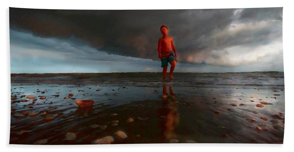 Beach Hand Towel featuring the photograph Caledon - San Clemente - Argentina by Marcello Cicchini