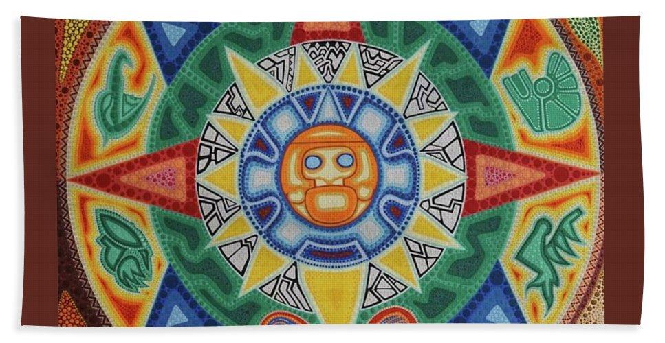Calendario Azteca.Calendario Azteca Hand Towel