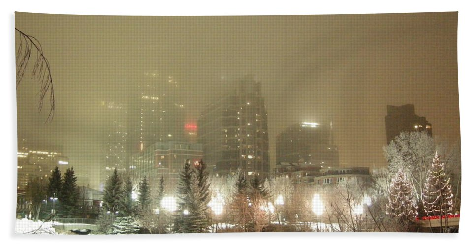 City Hand Towel featuring the photograph Calgary Alberta 2 by Leanne Karlstrom