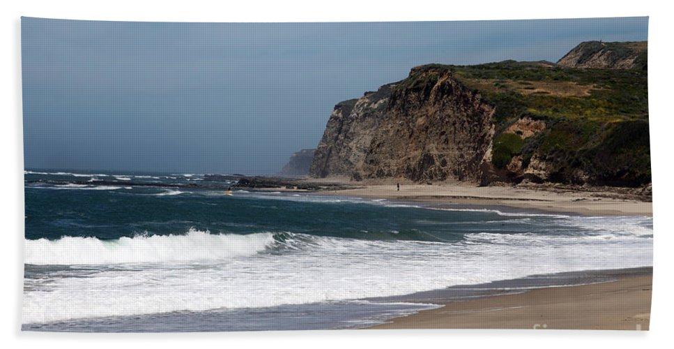 California Hand Towel featuring the photograph California Coast - Blue by Amanda Barcon