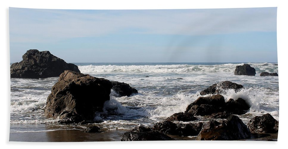 Driftwood Bath Sheet featuring the photograph California Coast 11 by Lydia Miller