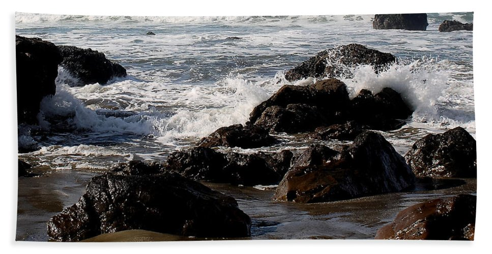 Driftwood Bath Sheet featuring the photograph California Coast 12 by Lydia Miller