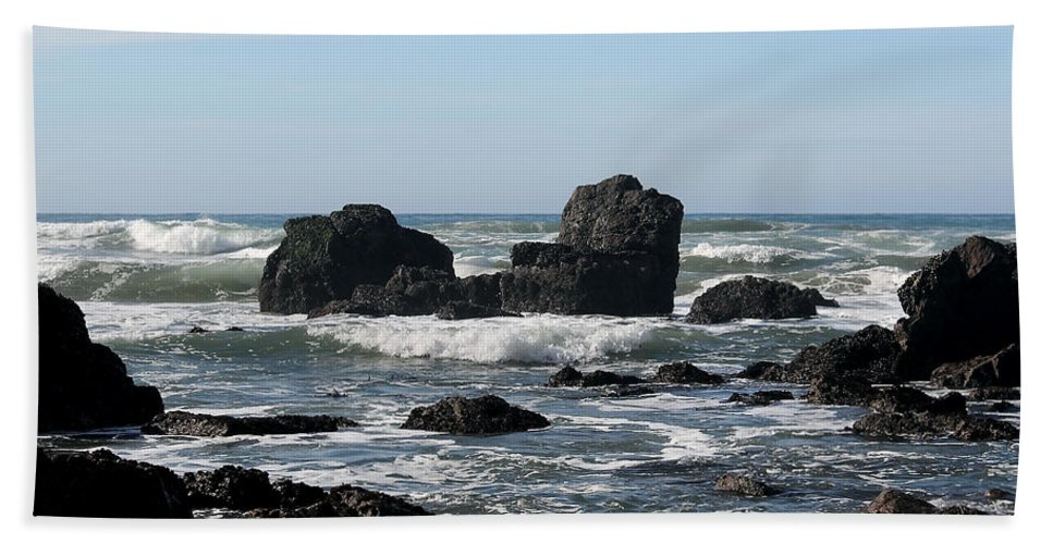 Driftwood Bath Sheet featuring the photograph California Coast 13 by Lydia Miller