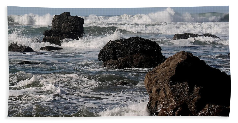 Driftwood Bath Sheet featuring the photograph California Coast 18 by Lydia Miller