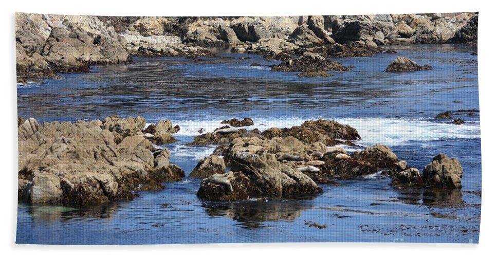 California Seaside Hand Towel featuring the photograph California Coast by Carol Groenen