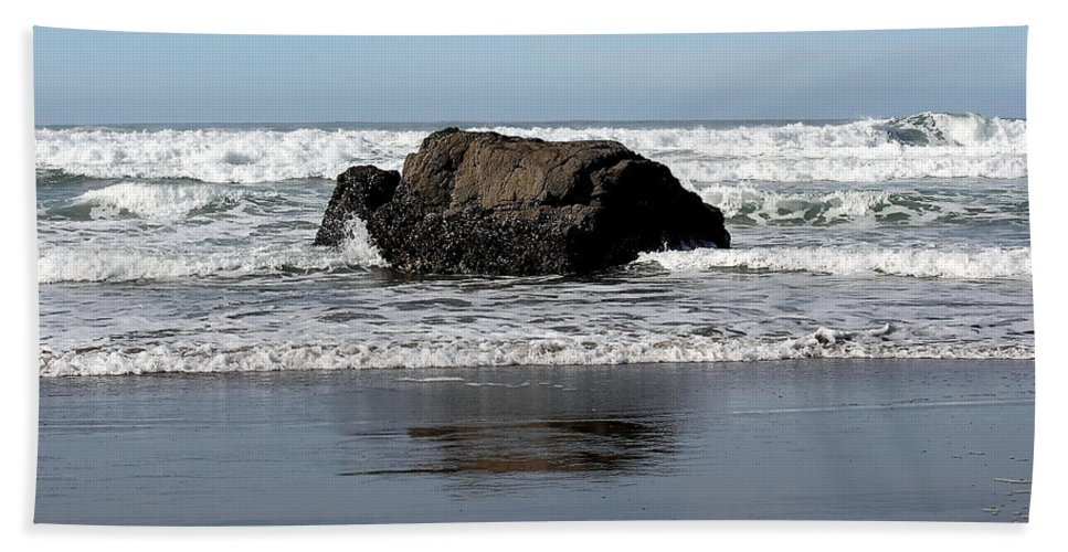 Driftwood Bath Sheet featuring the photograph California Coast Ocean Waves 2 by Lydia Miller