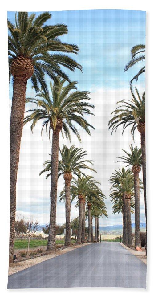 Palm Trees Bath Sheet featuring the photograph California Dreaming by Carol Groenen