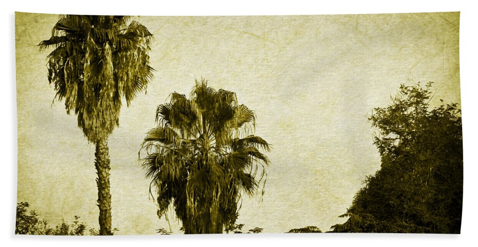 California Hand Towel featuring the photograph California Palms by Teresa Mucha