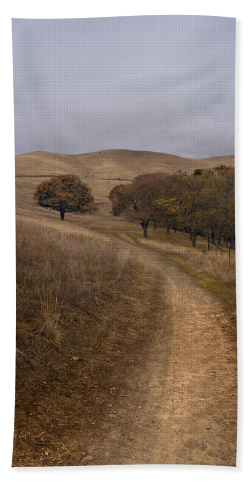 Landscape Bath Towel featuring the photograph California Winter by Karen W Meyer