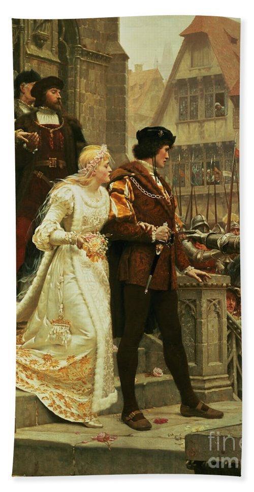 Call Hand Towel featuring the painting Call To Arms by Edmund Blair Leighton