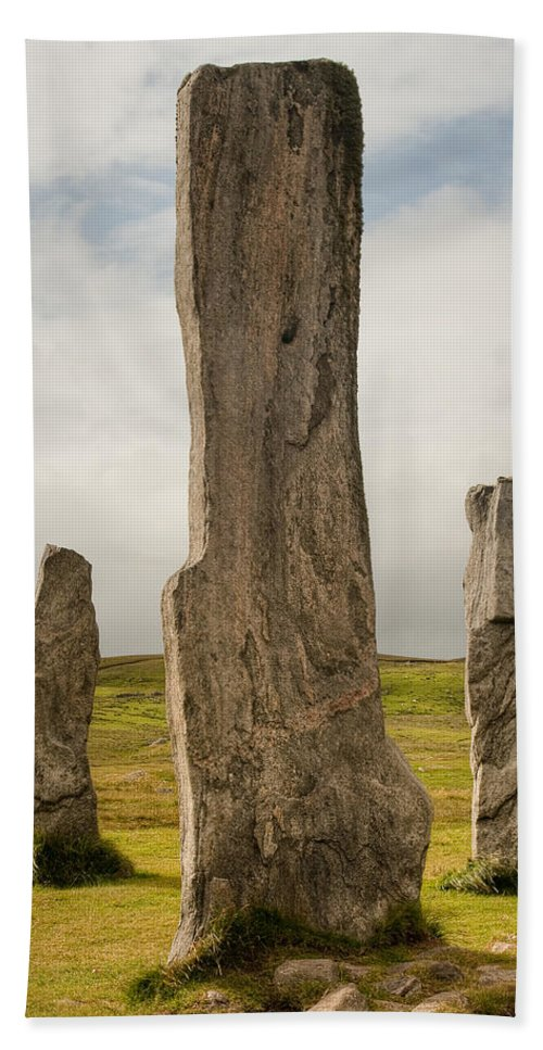 Scotland Hand Towel featuring the photograph Callanish Standing Stones by Colette Panaioti