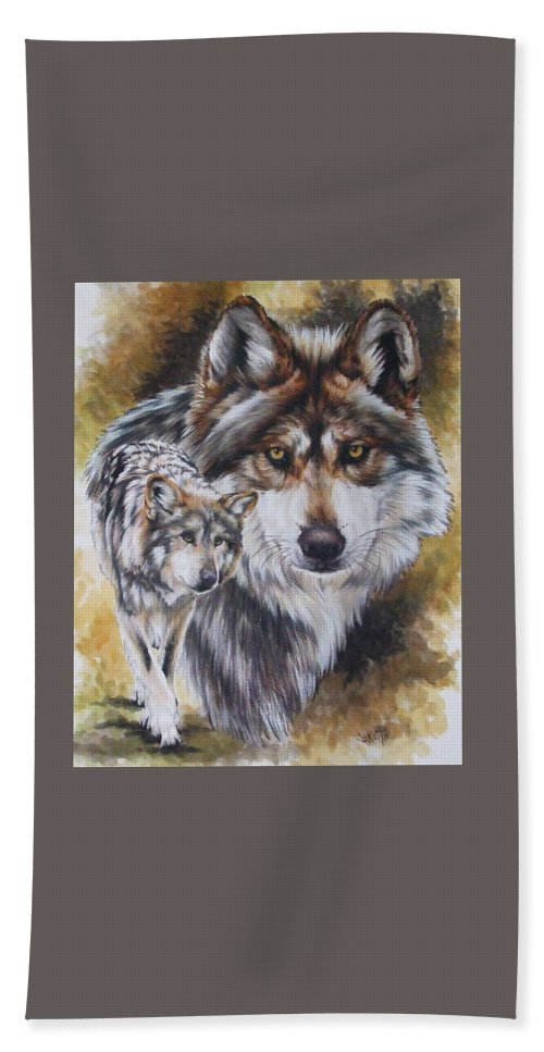 Wildlife Hand Towel featuring the mixed media Callidity by Barbara Keith