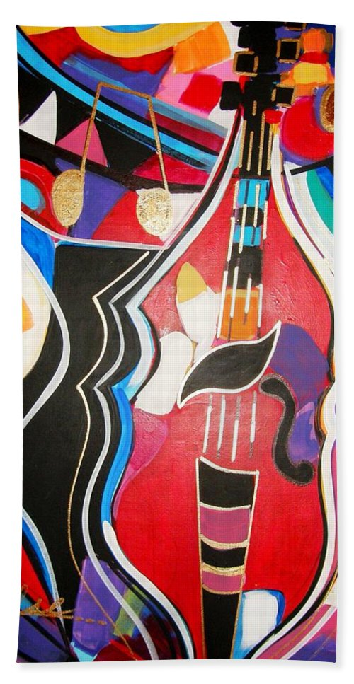 Music Bath Sheet featuring the painting Calling Me Home by Gina Hulse