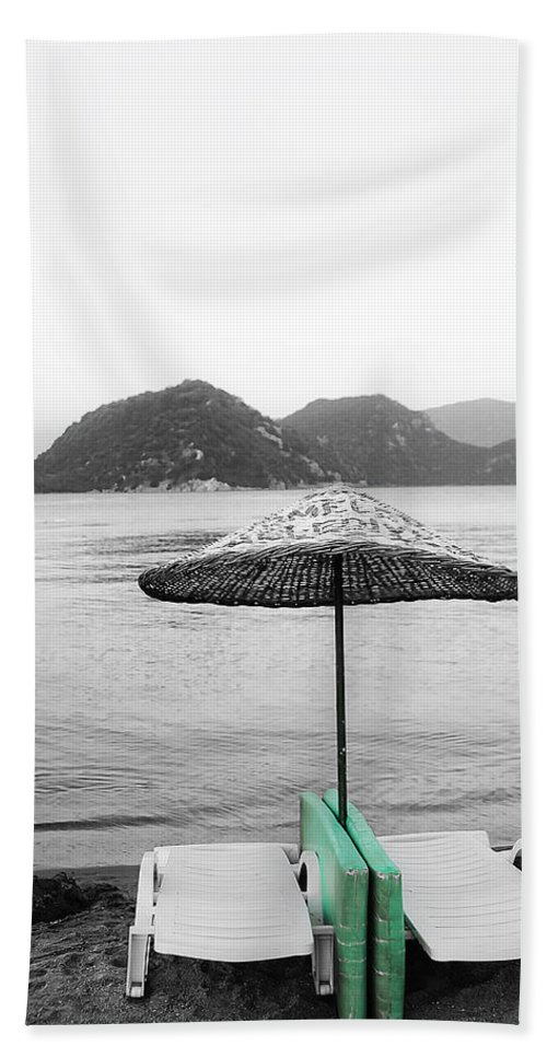 Background Hand Towel featuring the photograph Calm Eve by Svetlana Sewell