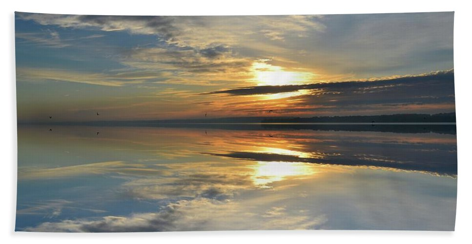 Abstract Hand Towel featuring the photograph Calm Morning Two by Lyle Crump