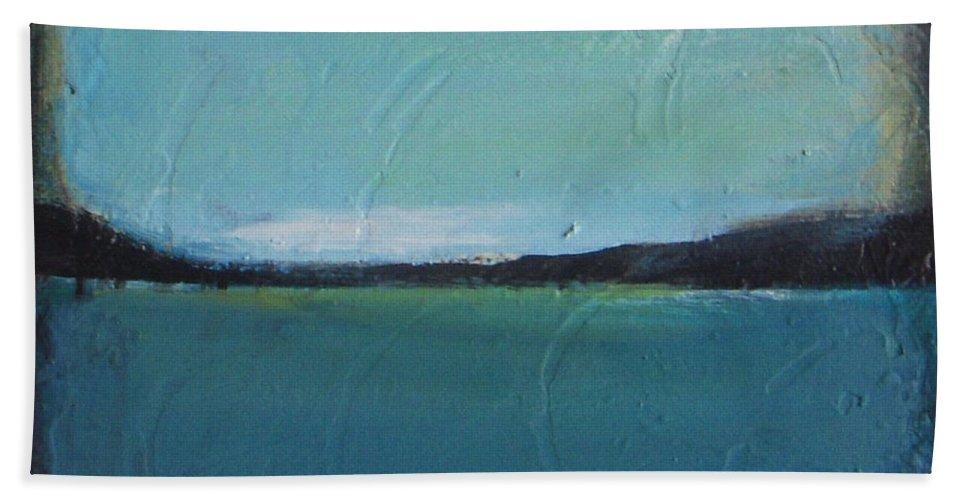 Ocean Bath Sheet featuring the painting Calm Ocean 2 by Vesna Antic