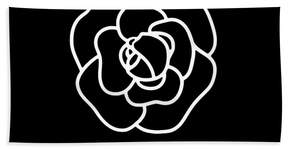 c6ed5fd27fc4 Camellia Chanel Bath Towel for Sale by Tres Chic