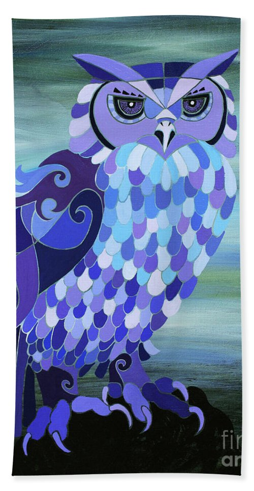 Barred Owl Bath Sheet featuring the painting Camelot by Barbara Rush