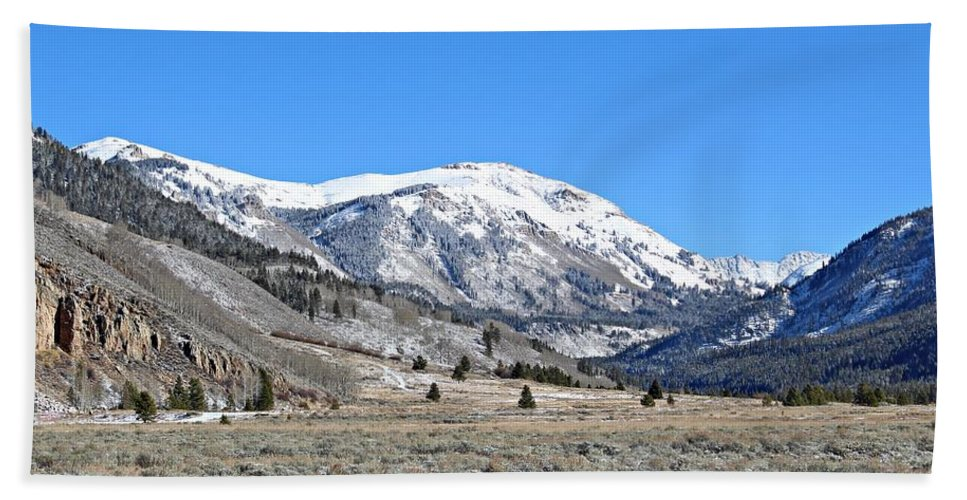 Mountains Hand Towel featuring the photograph Camp Hale Historical Area by Joseph Holub