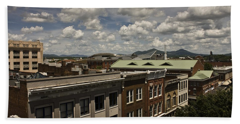 Cityscape Hand Towel featuring the photograph Campbell Avenue Rooftops Roanoke Virginia by Teresa Mucha