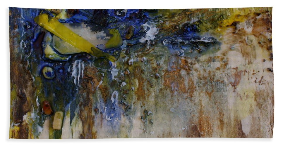 Canadian Shoreline Bath Sheet featuring the painting Canadian Shoreline by Joanne Smoley