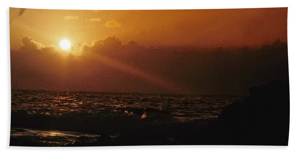 Sunset Hand Towel featuring the photograph Canary Islands Sunset by Gary Wonning