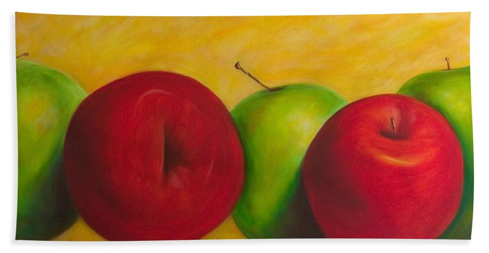 Still Life Bath Sheet featuring the painting Cancan by Shannon Grissom