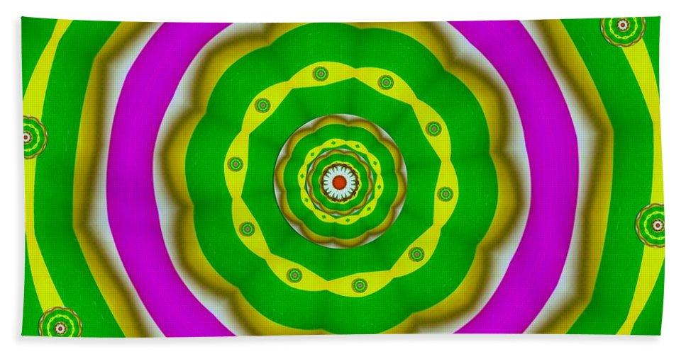 Digitalart Bath Sheet featuring the digital art Candy Colors Liberation by Pepita Selles