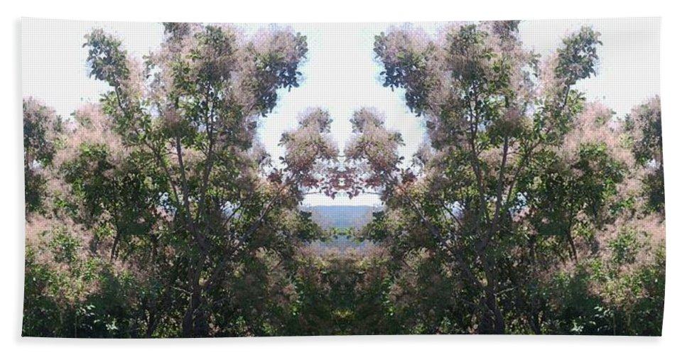 Greek Bath Sheet featuring the photograph Candy Floss Greek Bush by Julia Woodman