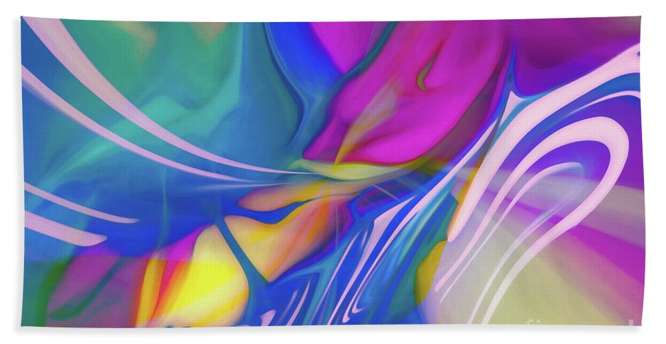 Abstract Bath Sheet featuring the photograph Candy Twist by Patti Schulze