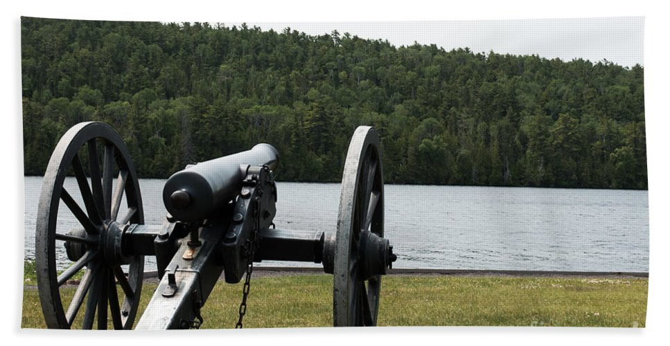 Cannon Bath Sheet featuring the photograph Cannon Protection by Wesley Farnsworth