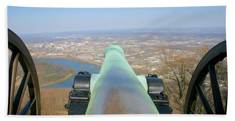 Cannon Hand Towel featuring the photograph Cannon Sighting by Kristin Elmquist