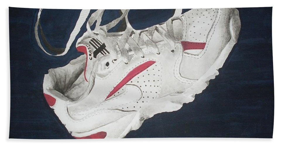 Shoes Bath Sheet featuring the painting Canvass by Olaoluwa Smith