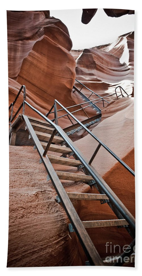 Slot Canyon Bath Sheet featuring the photograph Canyon Exit by Scott Sawyer