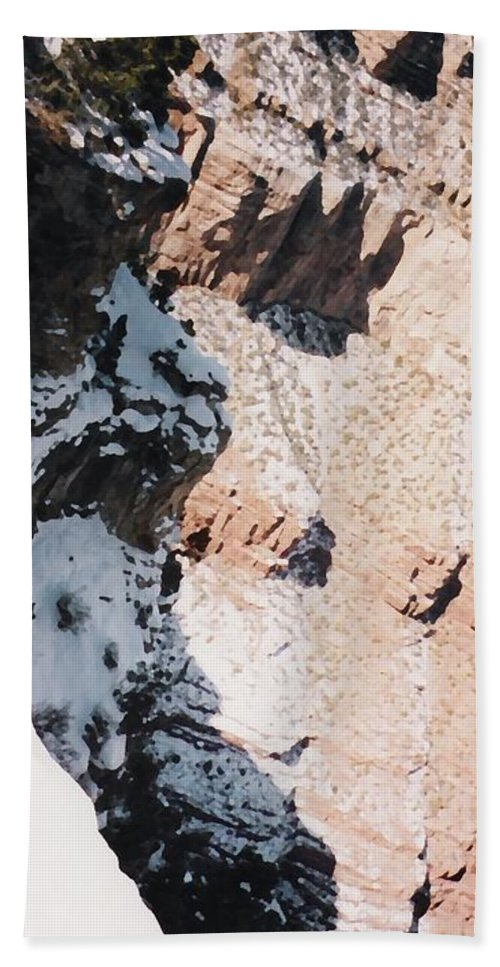 Canyon Hand Towel featuring the photograph Canyon Side by Pharris Art