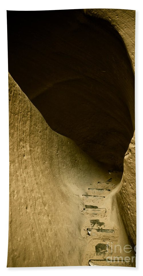 Photograph Bath Towel featuring the photograph Canyon Steps by Scott Sawyer