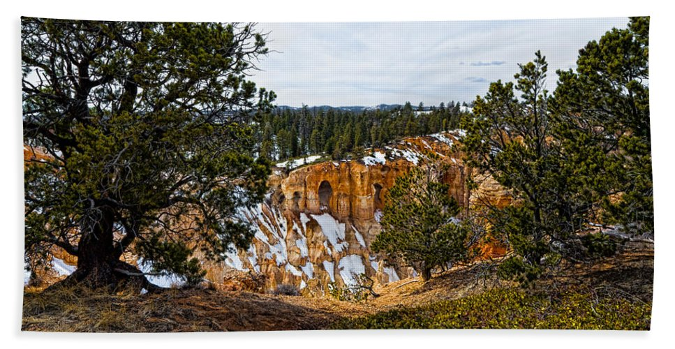 Canyon Hand Towel featuring the photograph Canyon View by Christopher Holmes