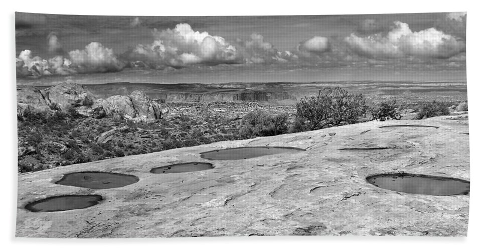 Americana Hand Towel featuring the photograph Canyonlands Puddles by Marilyn Hunt