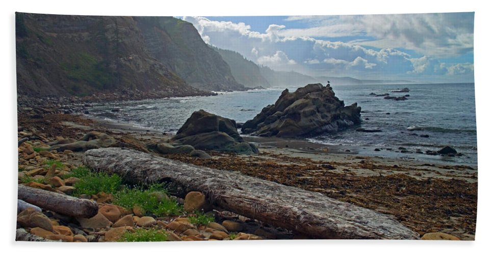 Cape Arago Hand Towel featuring the photograph Cape Arago Oregon by Randall Ingalls