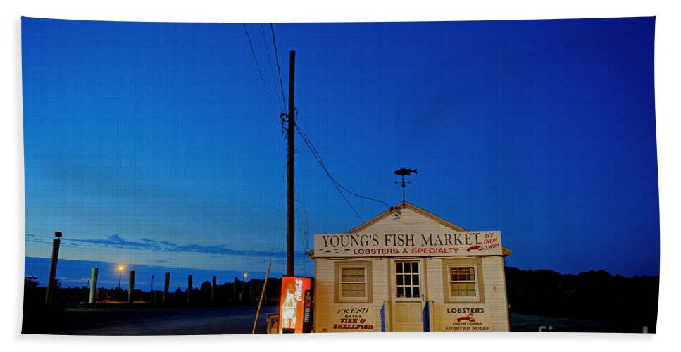 Fish Market Hand Towel featuring the photograph Cape Cod Fish Market by John Greim