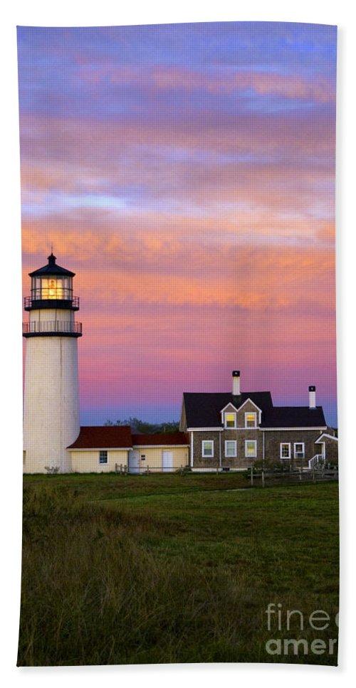 Cape Cod Bath Sheet featuring the photograph Cape Cod Light Truro by John Greim