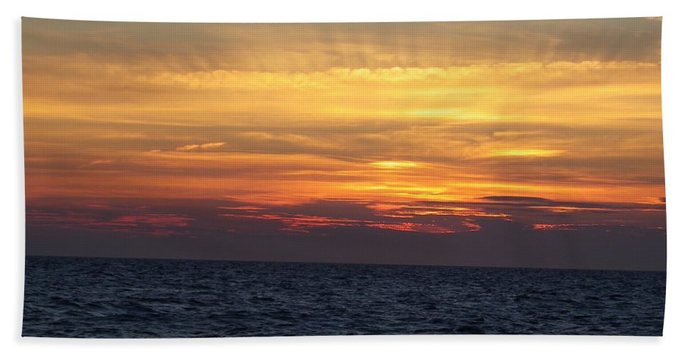 Seascape Hand Towel featuring the photograph Cape Cod Sunset by Charleen Treasures
