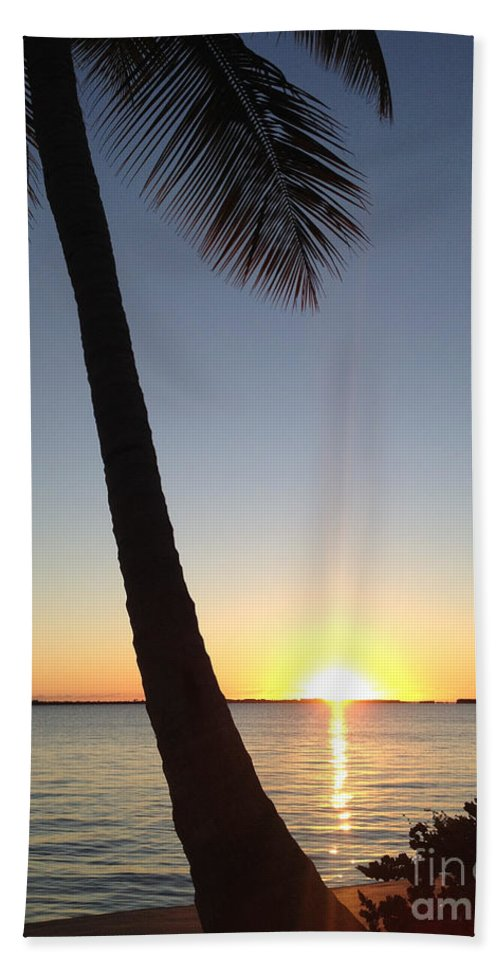 Cape Coral Hand Towel featuring the photograph Cape Coral Winter Sunset by Clay Cofer