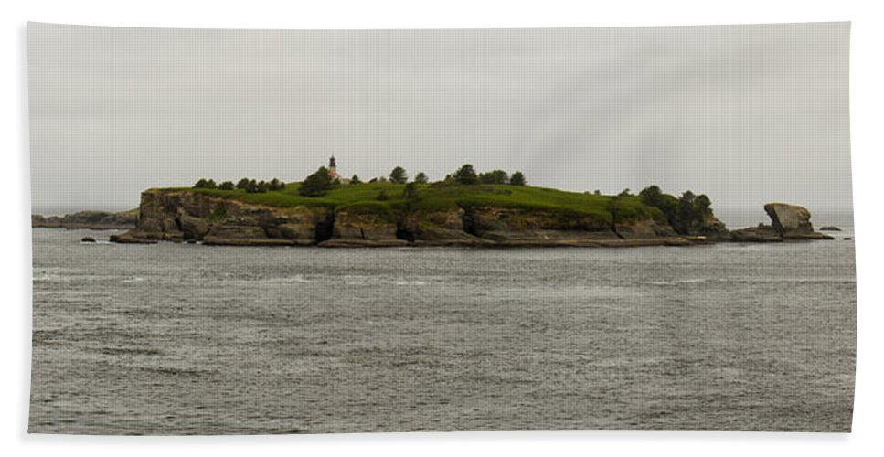 Cape Flattery Bath Sheet featuring the photograph Cape Flattery Lighthouse by Debby Richards