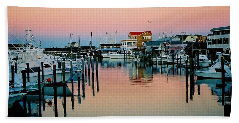 Cape May Hand Towel featuring the photograph Cape May After Glow by Steve Karol
