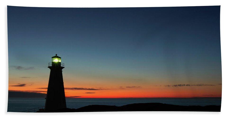 Canada Bath Towel featuring the photograph Cape Spear Sunrise by Linda Cullivan