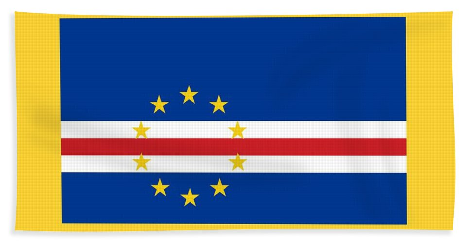 Banner Hand Towel featuring the photograph Cape Verde Flag by Frederick Holiday