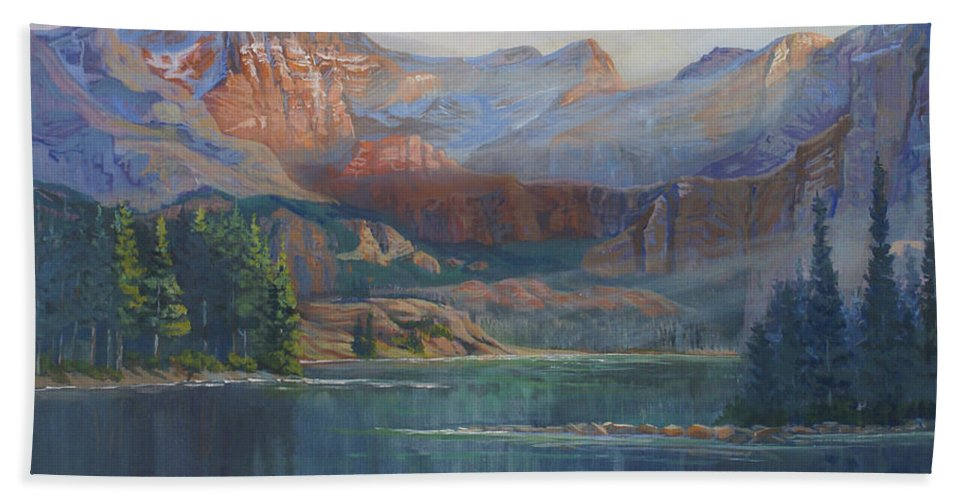 Capital Peak Bath Sheet featuring the painting Capitol Peak Rocky Mountains by Heather Coen